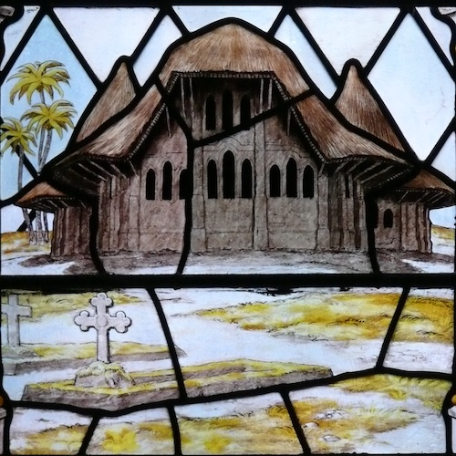 Colonial Themes in Stained Glass, Home and Abroad: A Visual Survey